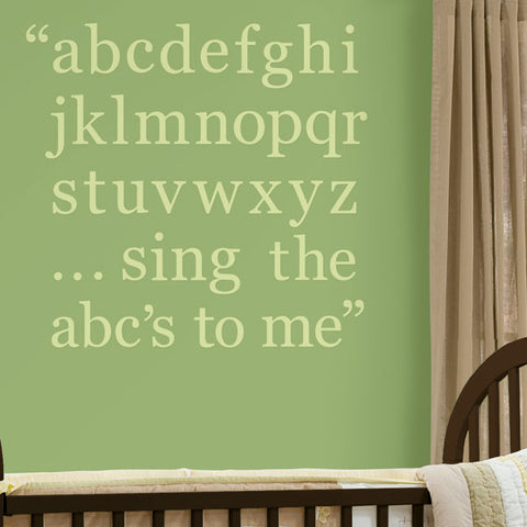 Pea Pod Green Alphabet Set