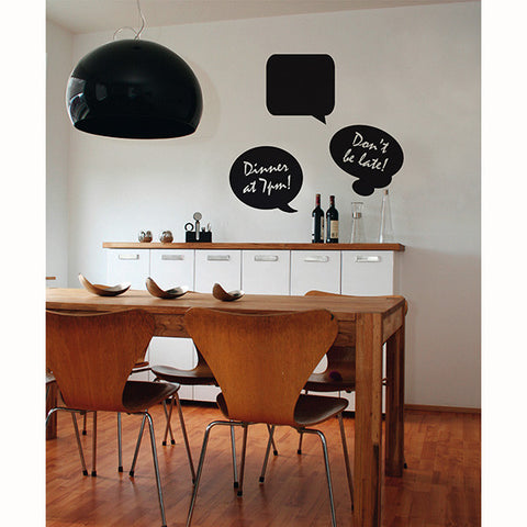 Chalk Speech Bubbles Wall Stickers
