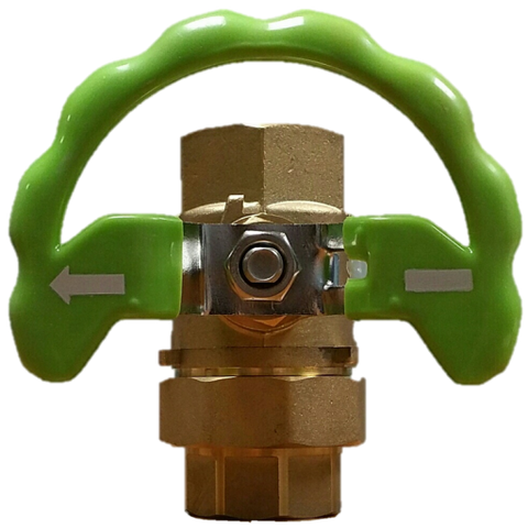 "Ball Valve, Union End 1-1/4"" Brass"