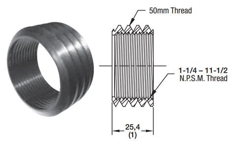 "Thread Adapter - 1-1/4"" to 50mm"