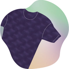 vector spot illustration of athletic fit cotton t-shirt
