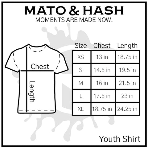 Mato & Hash MH200Y size chart - update sizes later