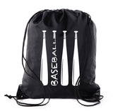 Wood Bats Polyester Drawstring Bag