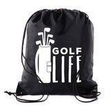 Golf Life - Bag of Clubs Polyester Drawstring Bag