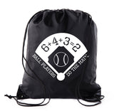 Ball Players Do The Math Polyester Drawstring Bag