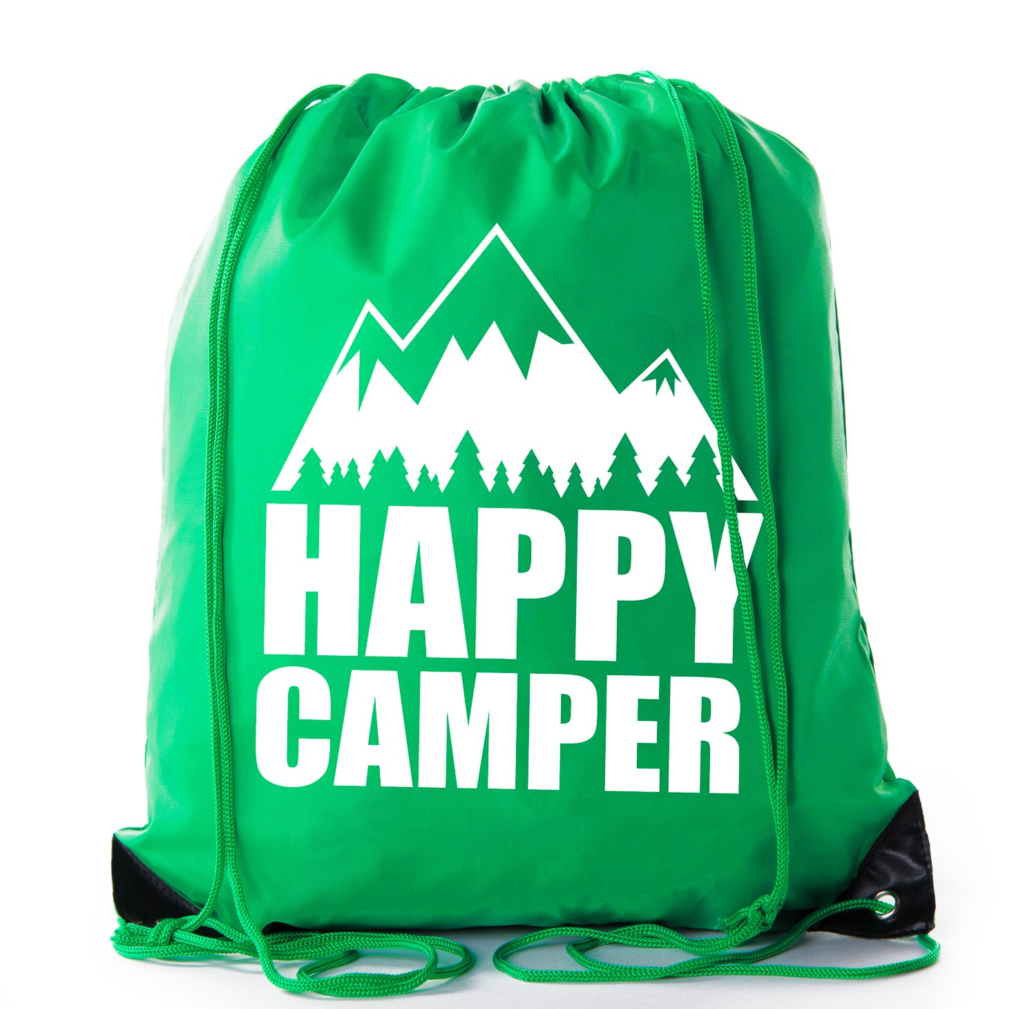 Accessory - Mato & Hash Camping Drawstring Backpack For Birthday Parties And Summer Camp - Happy Camper