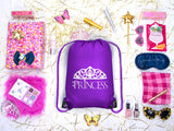 Princess + Tiara Polyester Drawstring Bag