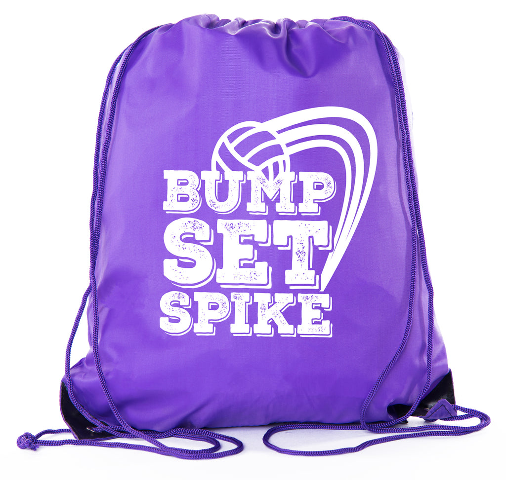 Accessory - Mato & Hash Adult And Child Volleyball Drawstring Backpacks Bags - Bump Set Spike