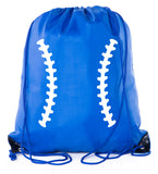 Accessory - Mato & Hash Boys Drawstring Backpack Baseball Bags 1-10 Pack Bulk Options - Laces