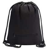 Accessory - Soft Texture Drawstring Backpack - Quick Access Zipper Pocket