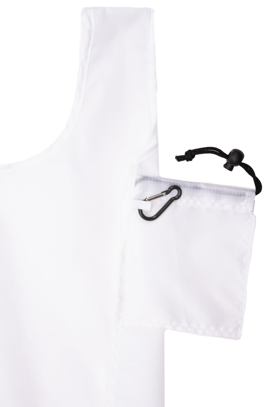 Foldable Shopping Bag With Integrated String Pouch - Bulk