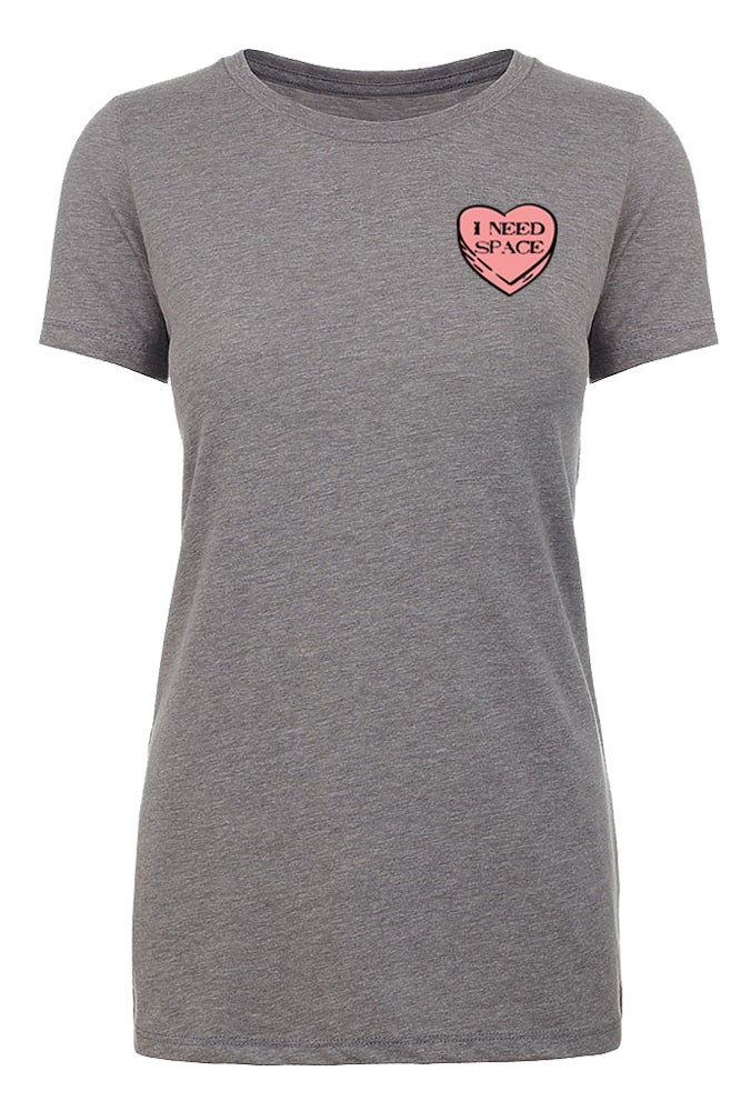 Shirt - I Hate Valentine's Day Shirts, Woman Crew Neck T-Shirts, Candy Heart T-shirts - I Need Space