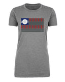 Shirt - USA Flag Grill T-shirt, Women's 4th Of July Shirts, Graphic Tees For Ladies