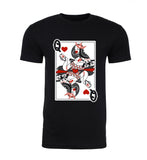 Couples Hipster Queen of Hearts Mens T Shirts