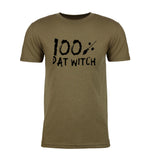 100% Dat Witch - Brush Strokes Text - Mens T Shirts