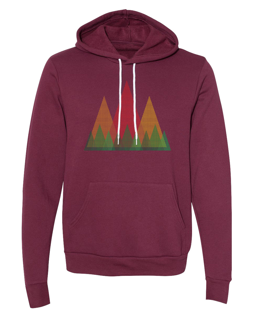 Sweater - Triangle Tree Line With Mountains Unisex Outdoor Hoodie Nature Sweatshirt