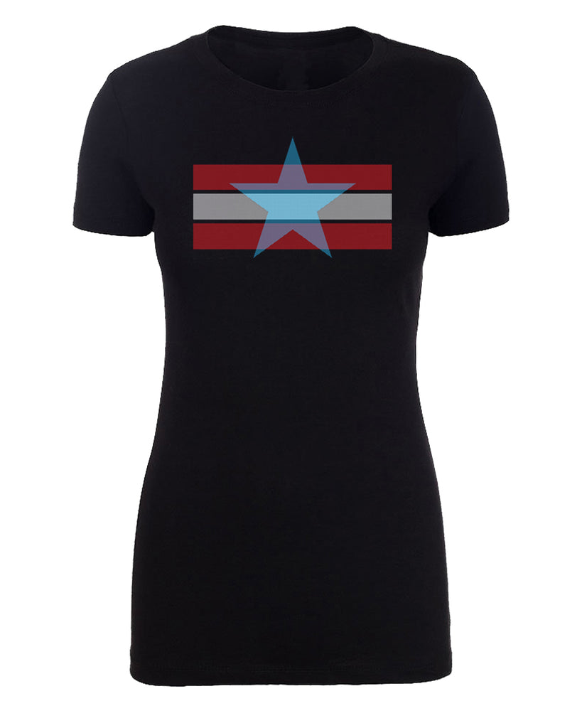 Shirt - Women's Stars And Stripes 4th Of July T-shirts, Ladies Graphic T-shirts