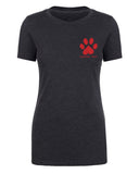 Shirt - Paw Print With Custom Name Or Text, Women's Personalized T-shirts, Dog Shirts