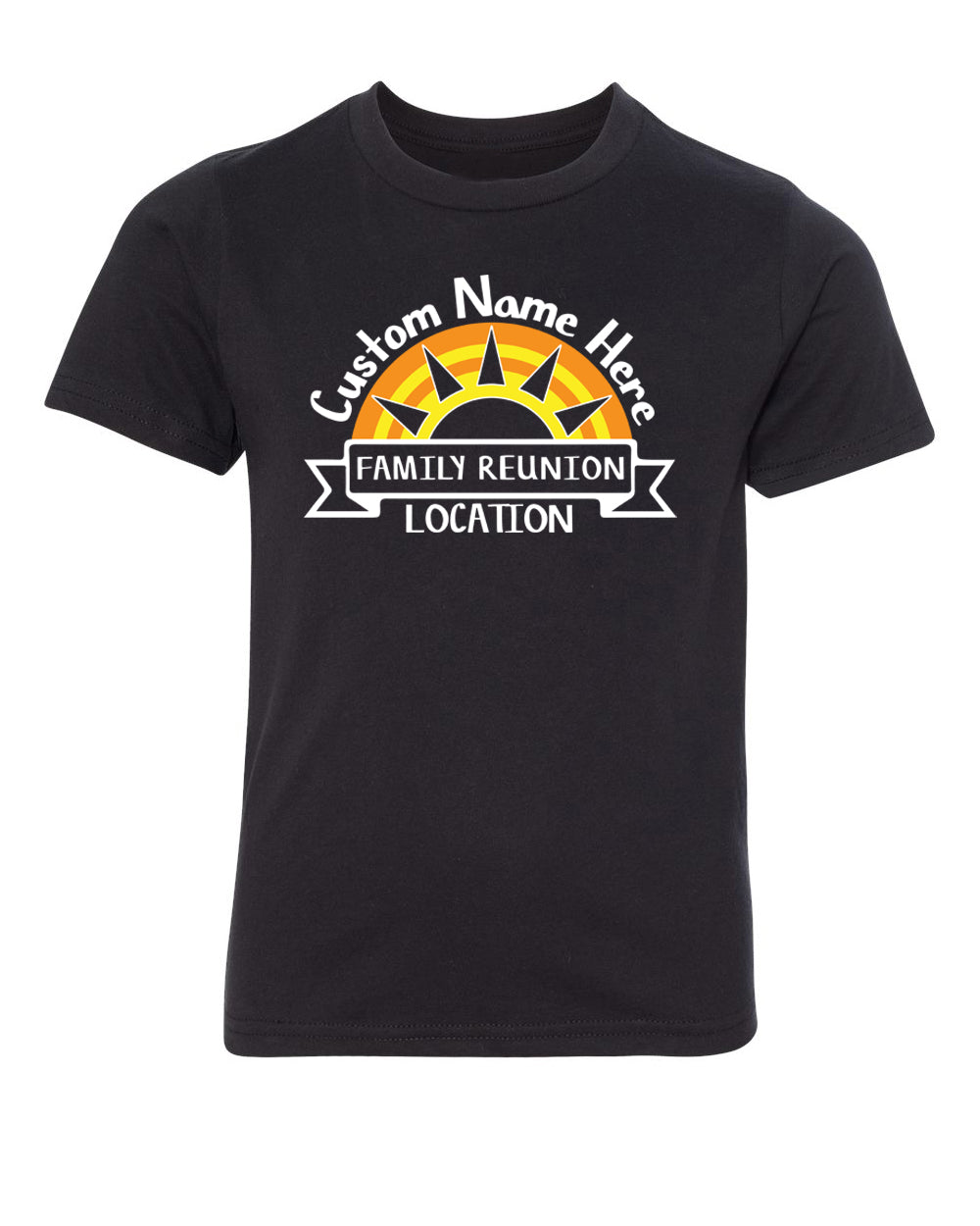 Shirt - Sun Set With Custom Name And Date- Family Reunion Youth T-shirts