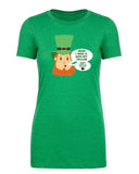 Irish I Was a Little Bit Taller, Irish I Was a Baller Leprechaun Womens T Shirts