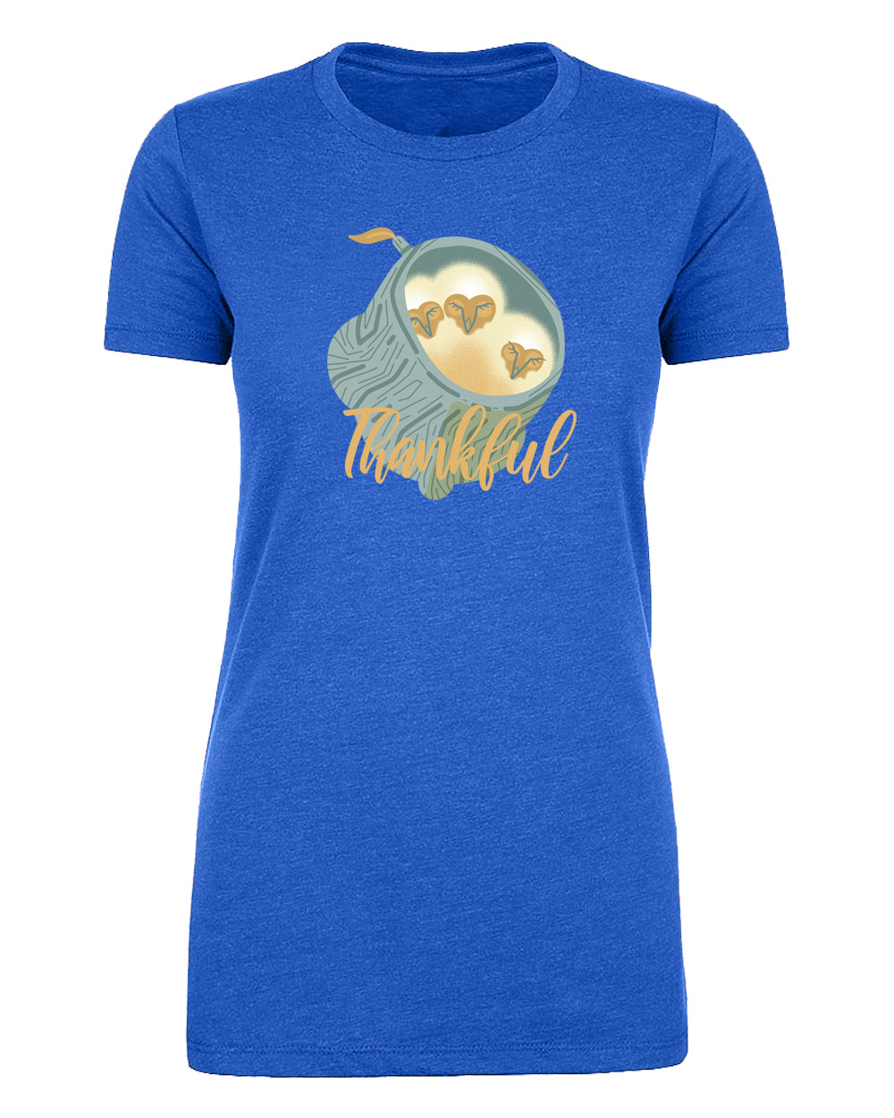 Shirt - Thankful Baby Owls Funny Thanksgiving Women's Shirts