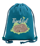 Thankful - Sleeping Deer Cotton Drawstring Bag