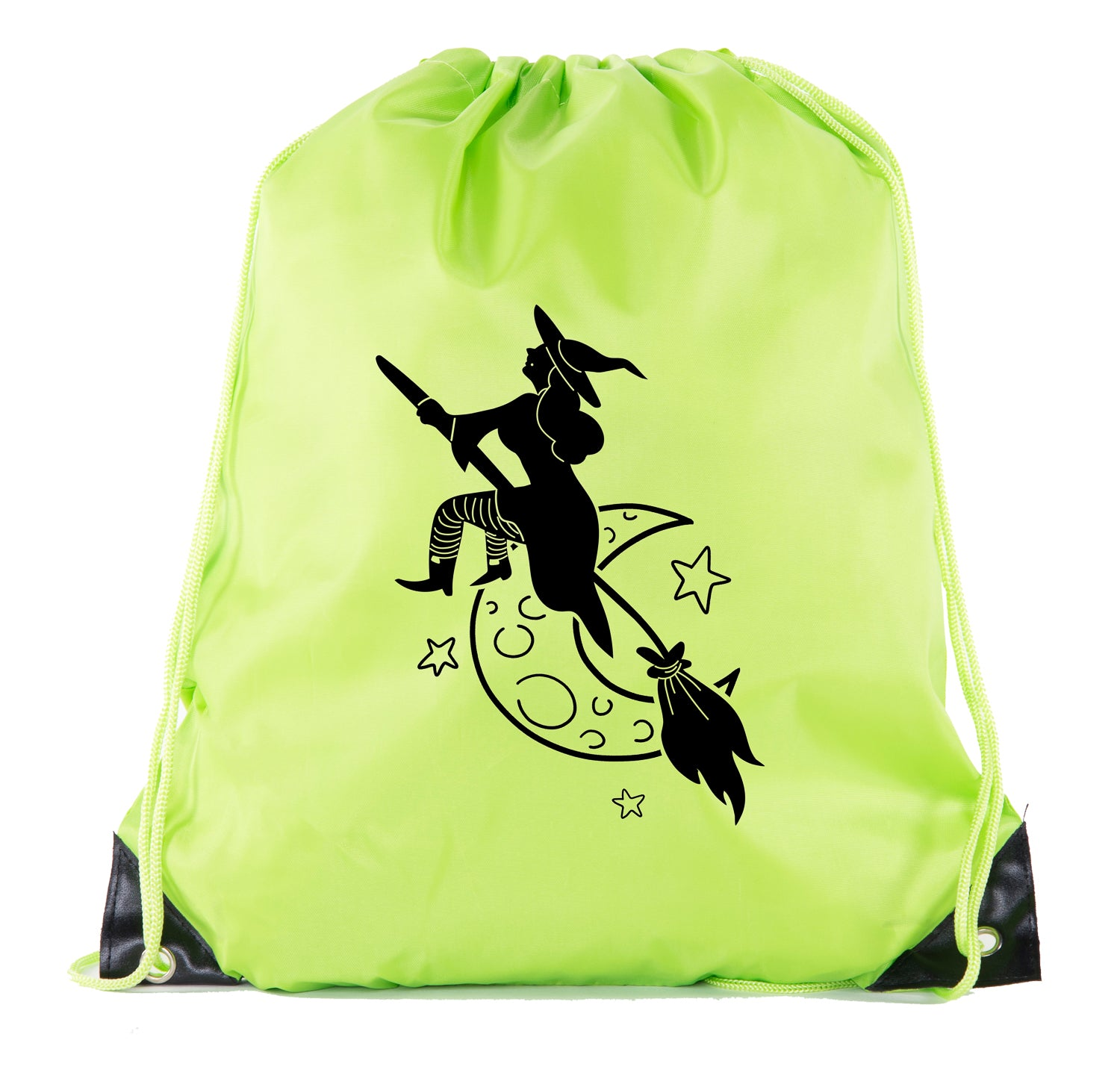 Accessory - Witch Halloween Bags, Halloween Trick Or Treat Bag, Funny Halloween Cinch Bags!