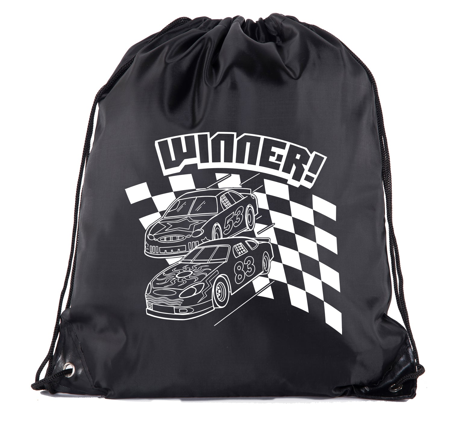 Accessory - Race Car Drawstring Backpacks| Race Car Cinch Good Bag Party Favors For Boys And Girls