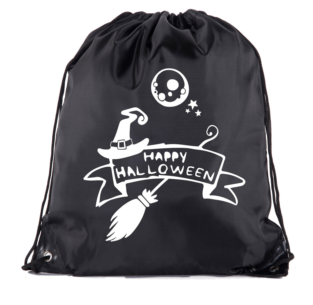 Accessory - Halloween Drawstring Bag | Halloween Trick Or Treat Bag For Candy, Parties And More! - Happy Halloween