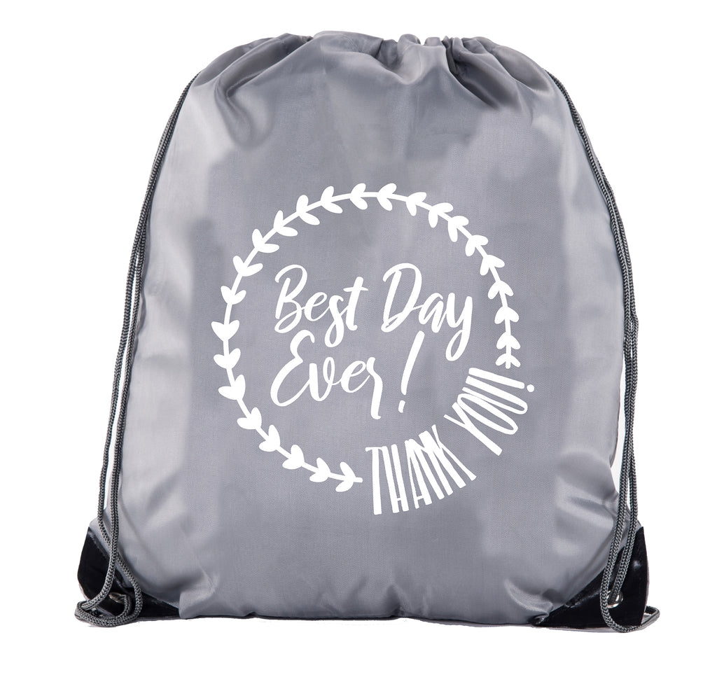 Happy Hunting Custom Easter Polyester Drawstring Backpack