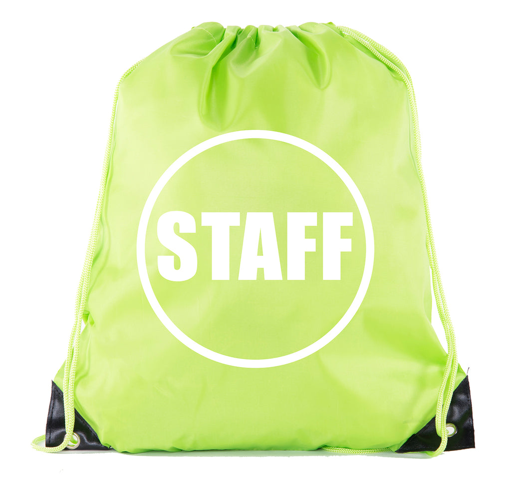 Accessory - Event Staff Drawstring Backpacks, Crew Bags For Emergency Kits, & Water Bottles - Staff Circle