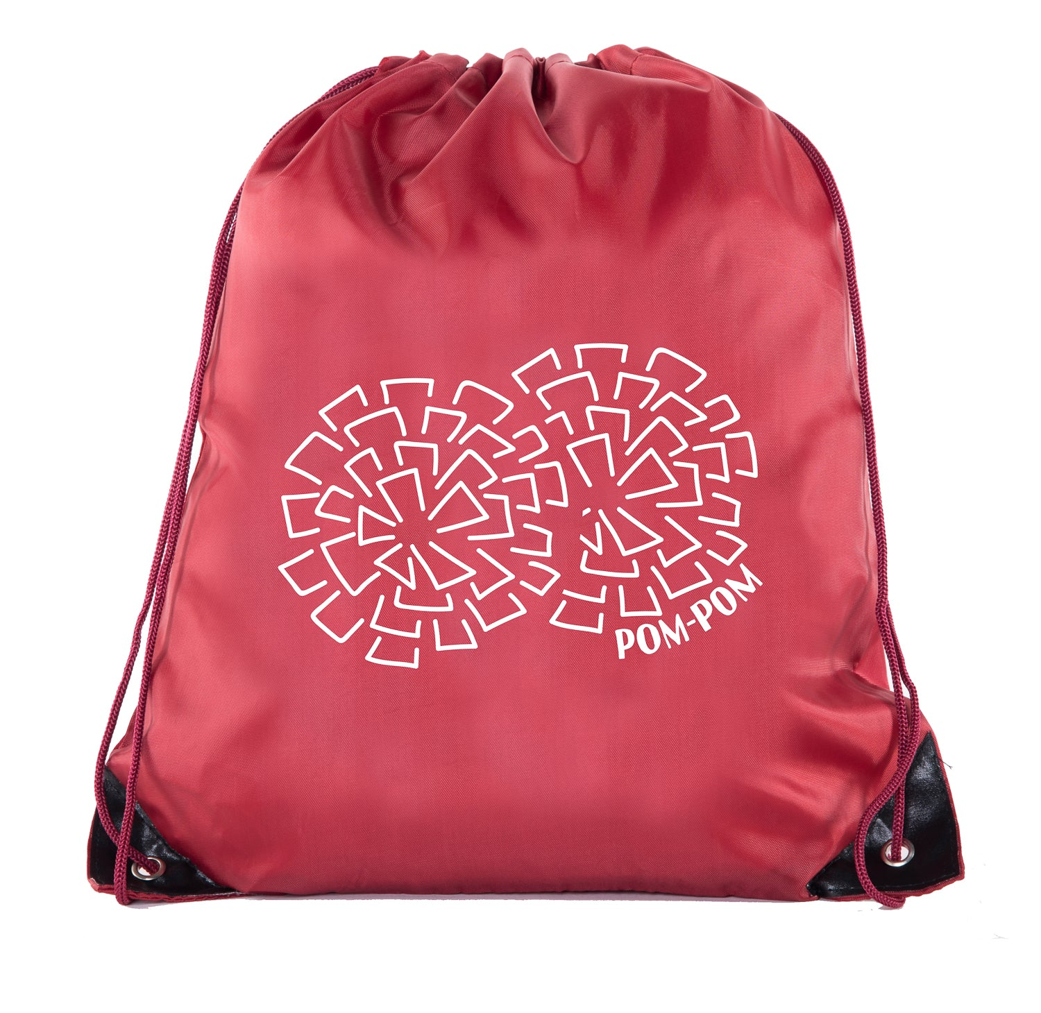 Accessory - Cheer Bags, Pom Pom And Cheerleader Drawstring Backpacks, Cheerleader Team Bags - PomPom