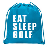 Eat. Sleep. Golf. Mini Polyester Drawstring Bag