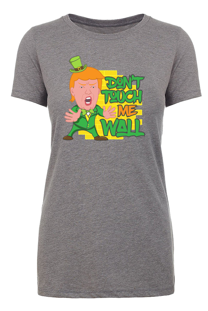 Shirt - Funny Trump T-shirts, St Patrick's Day Donald Trump Leprechaun Shirt - Wall