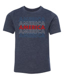 Shirt - America Red White And Blue Men's T-shirt, 4th Of July T-shirts For Kids