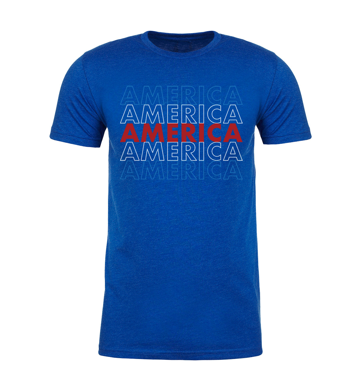 Shirt - America Red White And Blue Men's T-shirt, 4th Of July T-shirts For Men