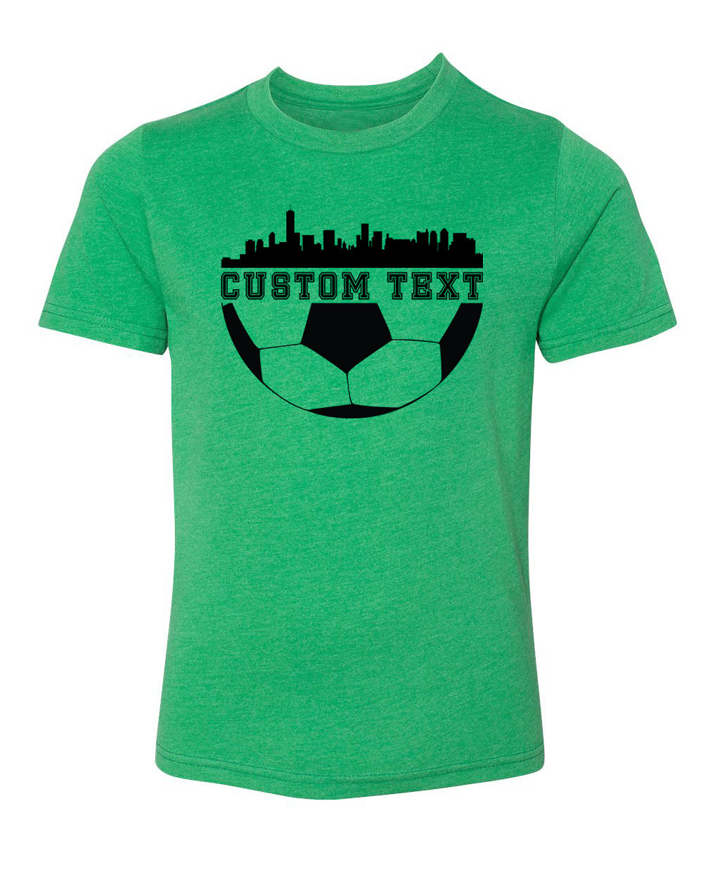 Shirt - Custom Soccer T-shirt With City Skyline Kids Personalized Soccer T Shirts
