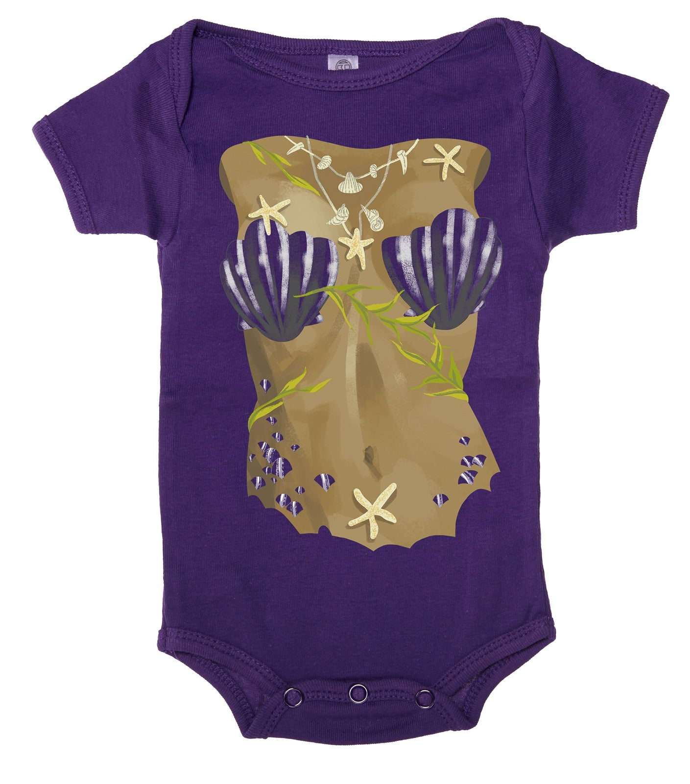 Shirt - Mermaid Costume Cute Baby Romper, Halloween Short Sleeve Baby One Piece!
