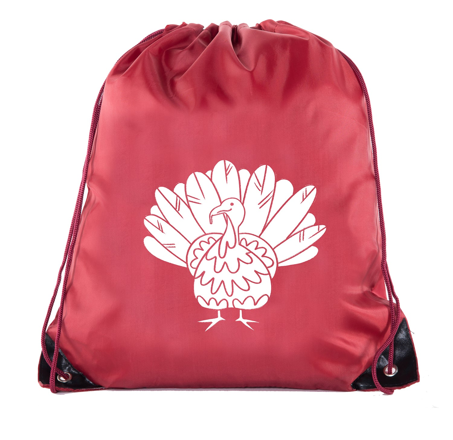 Turkey Color in Polyester Drawstring Bag