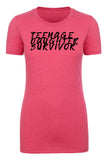 Shirt - Teenage Daughter Survivor, Funny Graphic T-shirts, Cute Mom Shirts