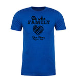Shirt - We Are Family Messy Heart With Custom Name -Family Reunion Men's T-shirts