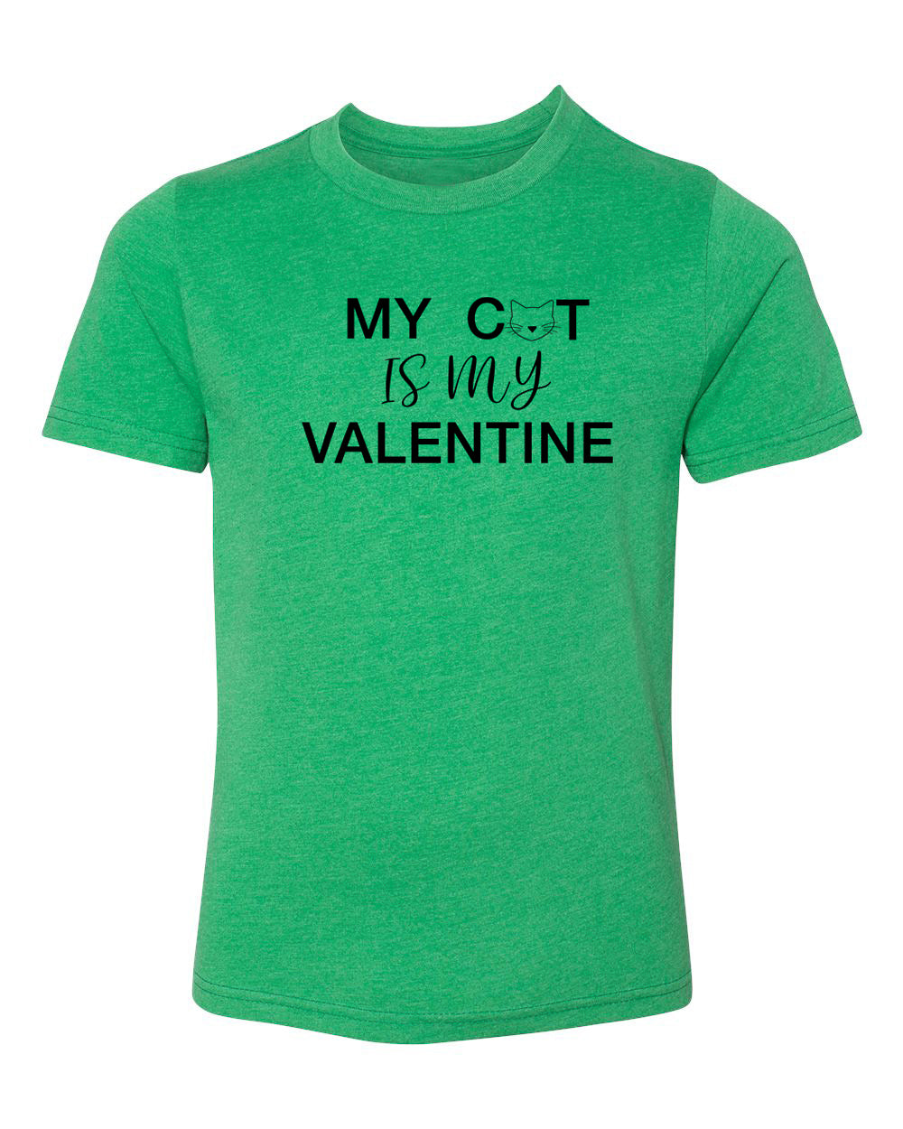 My Cat Is My Valentine Kids Shirts