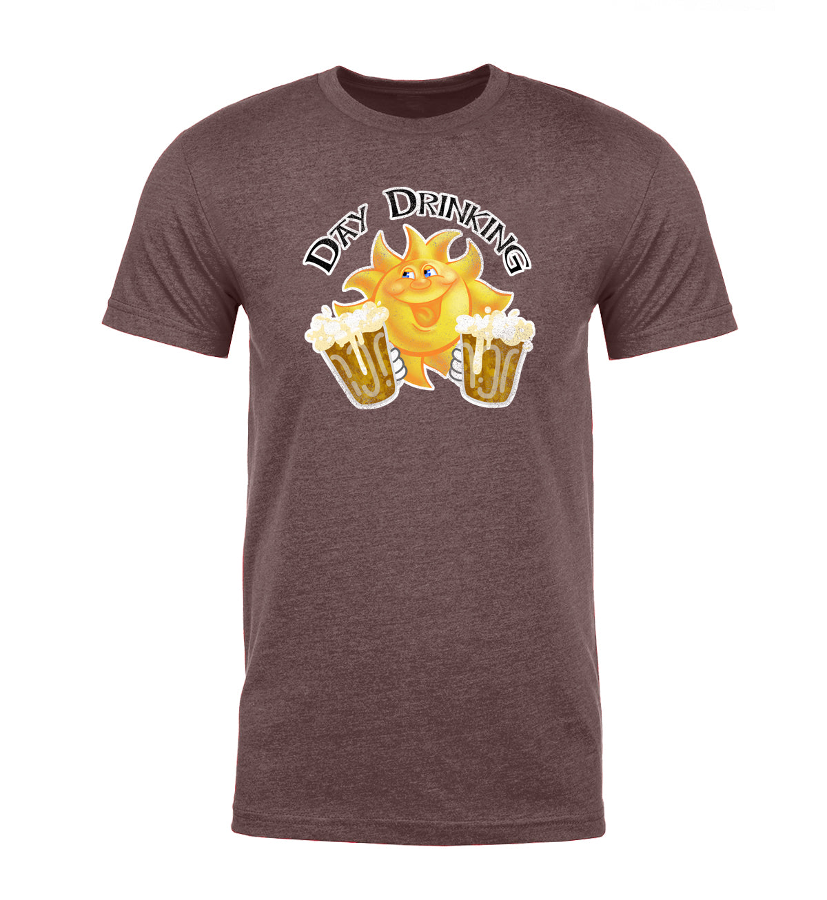 Day Drinking - Sun + Mugs Vintage Mens T Shirts