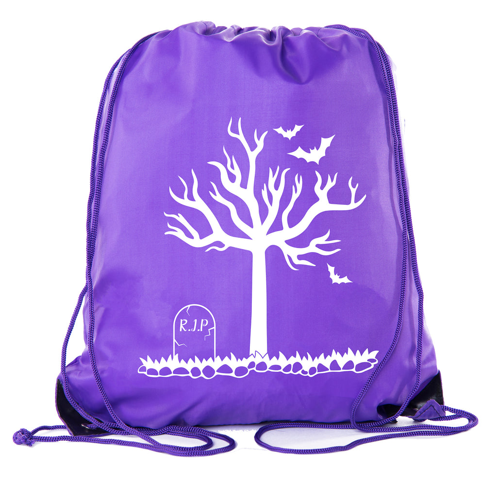 Accessory - Halloween Drawstring Bag | Halloween Trick Or Treat Bag For Candy, Parties And More! - RIP