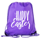 Accessory - Easter Basket Bags, Bulk Drawstring Backpacks, Party Favor Goody Bags For Easter - Peaking Bunny
