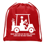Accessory - Mato & Hash Mini Drawstring Golf Bags | Golf Favor Bags For Leagues And Parties - Stays On The Course