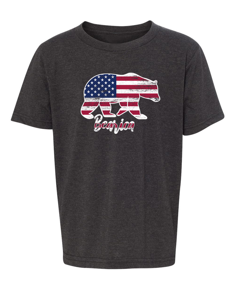 Shirt - Bearica American Flag Kid's 4th Of July Shirts, Patroitic Shirts For Kids