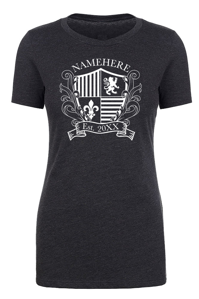Shirt - Family Crest Custom Name And Date -Family Reunion Woman's T-shirts