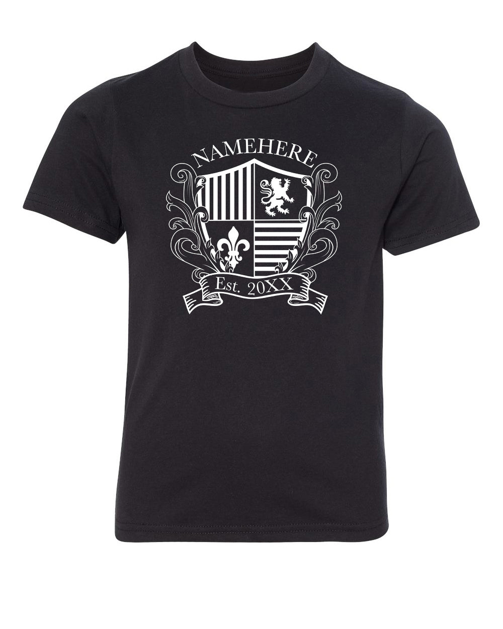Shirt - Family Crest Custom Name And Date -Family Reunion Youth T-shirts