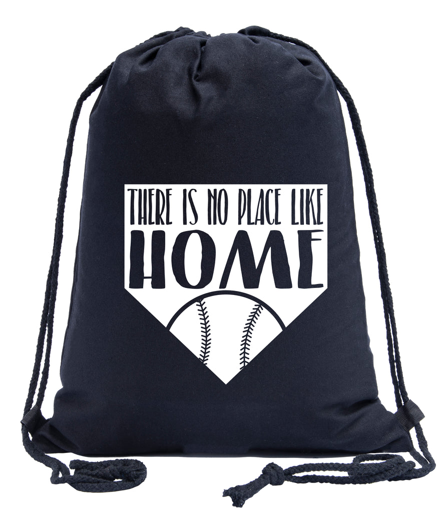 No Place Like Home Baseball Cotton Drawstring Backpack